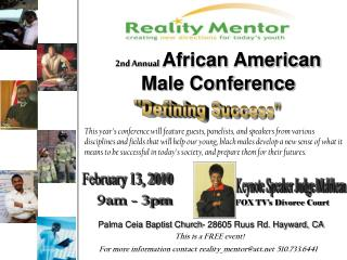 2nd Annual African American Male Conference