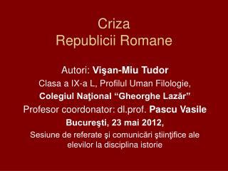Criza  Republicii Romane