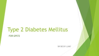 GP VTS Programme Diabetes: Hot topics and case histories