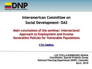Interamerican Committee on Social  Development – OAS