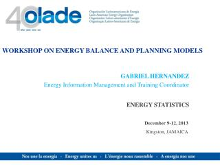 WORKSHOP ON ENERGY BALANCE AND PLANNING MODELS
