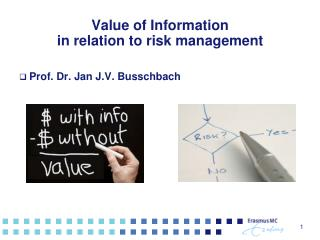 Value of Information  in relation to risk management