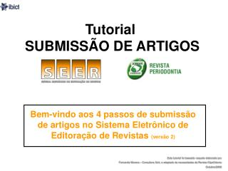 Tutorial   SUBMISSÃO DE ARTIGOS