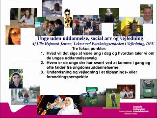 Tre diskurser om social eksklusion Levitas (1998) The Inclusive Society?