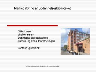 Markedsføring af uddannelsesbiblioteket