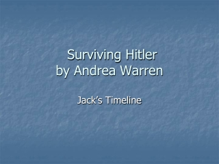 Surviving Hitler  by Andrea Warren