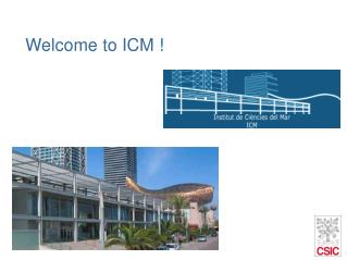 Welcome to ICM  !