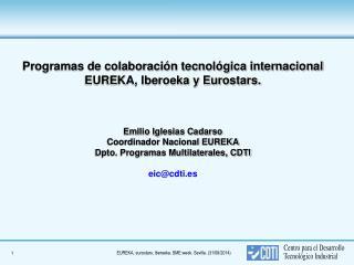 Cooperación tecnológica internacional en I+D+i