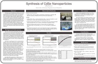 Synthesis of CdSe Nanoparticles
