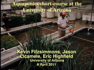 Aquaponics short-course at the University of Arizona