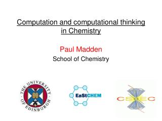 Computation and computational thinking in Chemistry