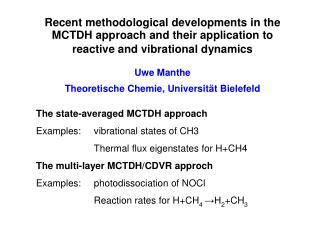Example: vibrational states of CH 3