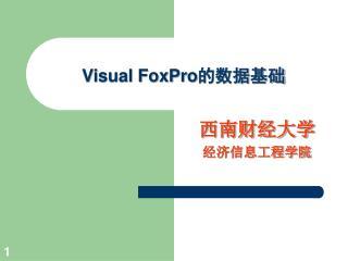 Visual FoxPro 的数据基础
