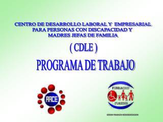 CENTRO DE DESARROLLO LABORAL Y  EMPRESARIAL PARA PERSONAS CON DISCAPACIDAD Y