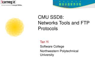 CMU SSD8:  Networks Tools and FTP Protocols