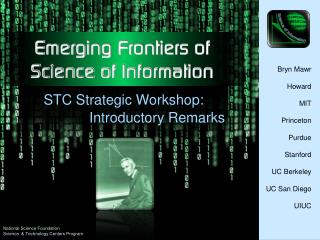 Emerging Frontiers of  Science of Information