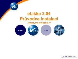 eLiška 3.0 4 Průvodce instalací (verze pro Windows 7)