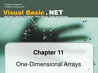 Chapter 11 One-Dimensional Arrays