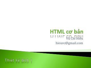 HTML cơ bản