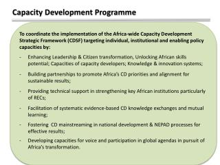 Capacity Development Programme