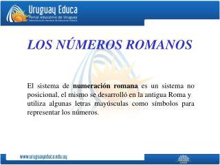 LOS N�MEROS ROMANOS