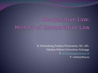 Comparative Law: History of Comparative Law