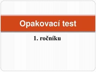 Opakovací test
