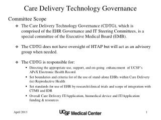 Care Delivery Technology Governance