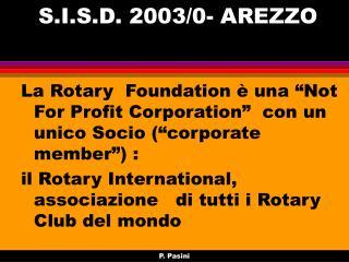 S.I.S.D. 2003/0- AREZZO