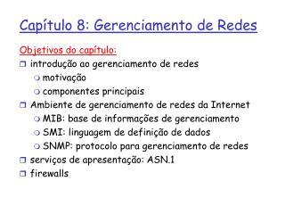 Capítulo 8: Gerenciamento de Redes
