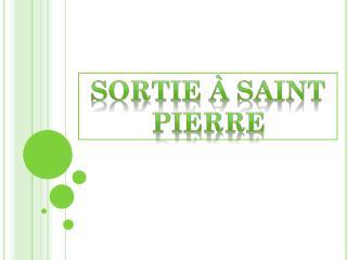 Sortie à Saint Pierre