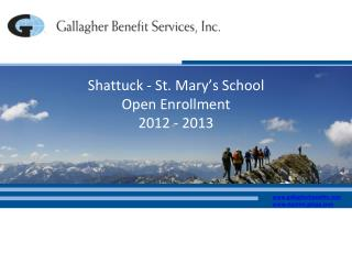 Shattuck - St. Mary�s School Open Enrollment 2012 - 2013