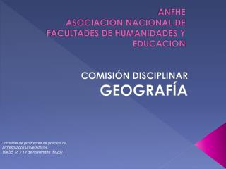 ANFHE ASOCIACION NACIONAL DE FACULTADES DE HUMANIDADES Y EDUCACION