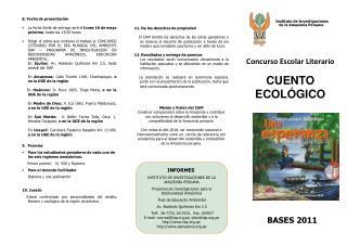INFORMES INSTITUTO DE INVESTIGACIONES DE LA AMAZONÍA PERUANA