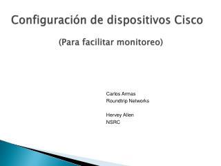 Configuración  de  dispositivos  Cisco