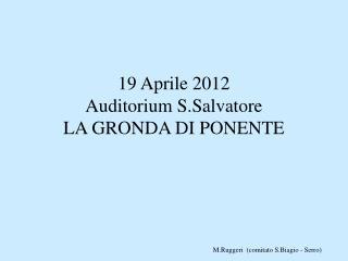 Presentazione sulla Gronda di ponente.