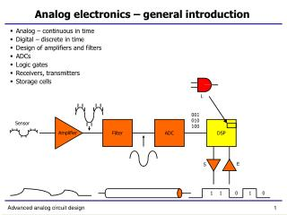 Analog electronics – general introduction