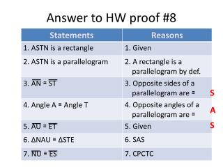 Answer to HW proof #8