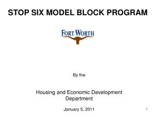 STOP SIX MODEL BLOCK PROGRAM
