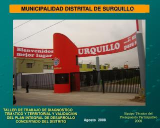 Equipo Técnico del Presupuesto Participativo 2009