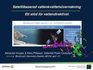 Alexander Krusper & Petra Philipson, Vattenfall Power Consultant