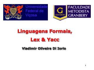 Linguagens Formais, Lex & Yacc Vladimir Oliveira Di Iorio