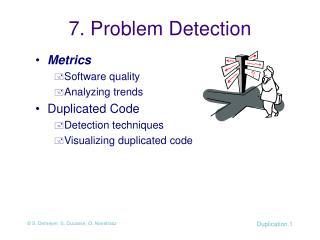 7. Problem Detection