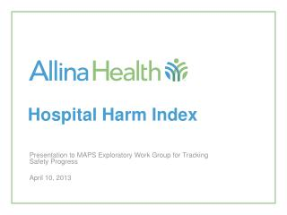 Hospital Harm Index