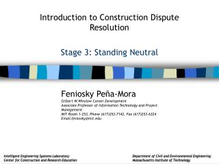 Stage 3: Standing Neutral