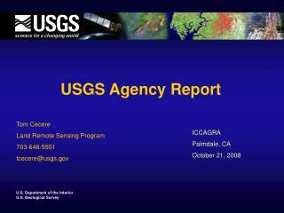 USGS Agency Report