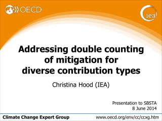 Addressing double counting of mitigation for  diverse contribution types