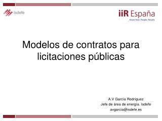 Modelos de contratos para licitaciones públicas