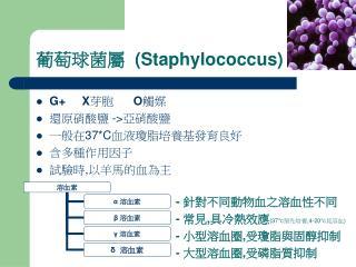 葡萄球菌屬   (Staphylococcus)