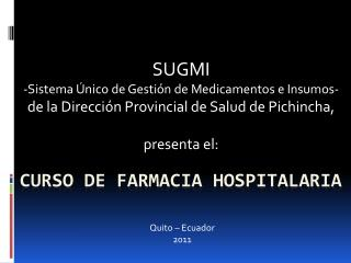 Curso de farmacia hospitalaria